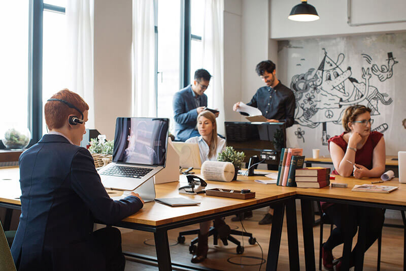 Office workers in office