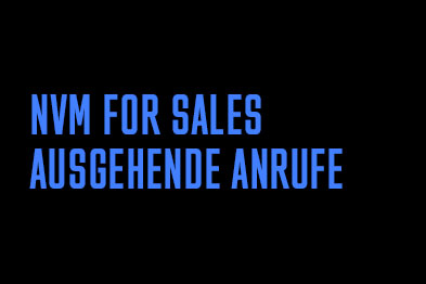 NVM for Sales: Ausgehende Anrufe
