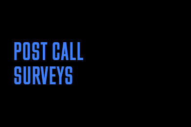 Post-call surveys