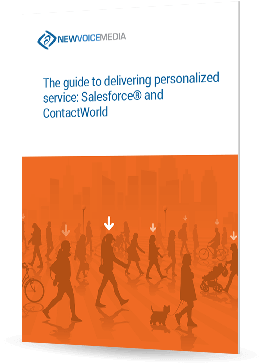 The guide to delivering personalized service: Salesforce® and ContactWorld