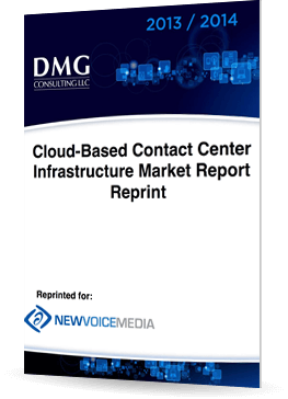 DMG Consulting: Cloud-Based Contact Center Infrastructure Market Report 2013/2014