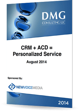 CRM + ACD = personalised service