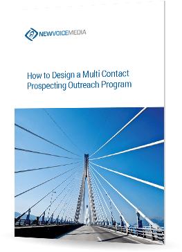 How to design a multi-contact prospecting outreach program